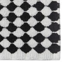 Tapete-50x70-Preto-branco-Bolotas
