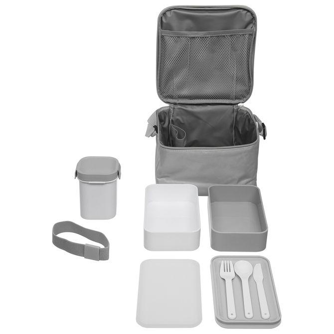 Kit-Porta-refeicao-C-bolsa-8pcs-Cinza-branco-Lunchbox