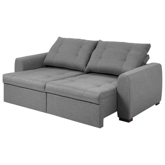Super Doha Sofa Retratil 3 Lugares Poli Cinza Machost Co Dining Chair Design Ideas Machostcouk