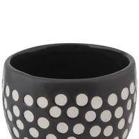 Cachepo-12-Cm-Cinza-branco-Dotting