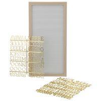 Memory-board-51-Cm-X-25-Cm-Branco-ouro-Watchword