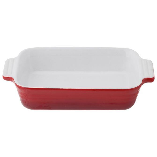 Travessa-Refrataria-13-Cm-X-22-Cm-Vermelho-branco-Baked