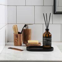 Porta-escova-pasta-Natural-Acacia