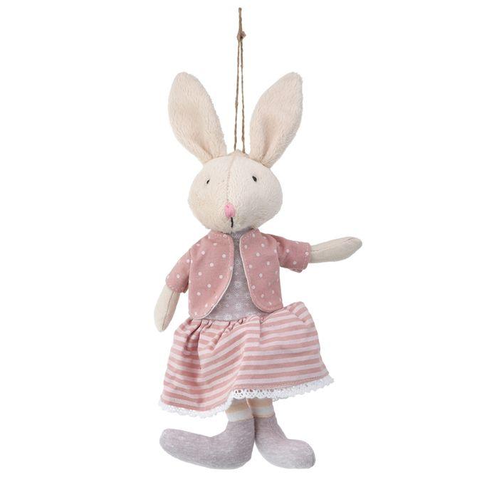 Coelha-Sentada-Cinza-rosa-Ternurinhas-E-Orelhinhas
