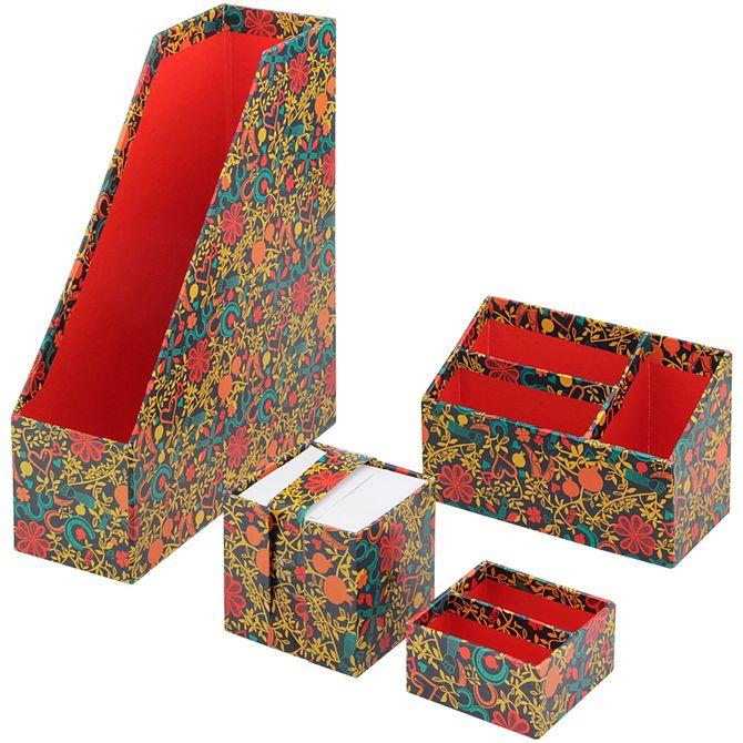 Kit-Acessorios-Mesa-4pcs-Multicor-vermelho-Amuletos