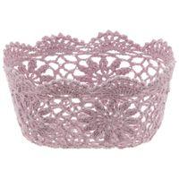 Cesto-17-Cm-X-12-Cm-X-9-Cm-Rosa-Antique-Croche-Floral