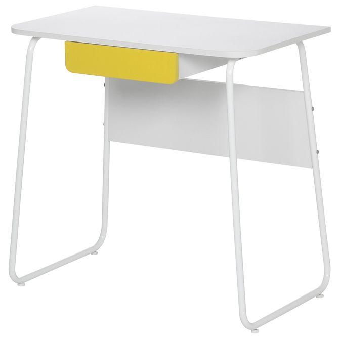 Escrivaninha-1gv-80x45-Branco-amarelo-Sign