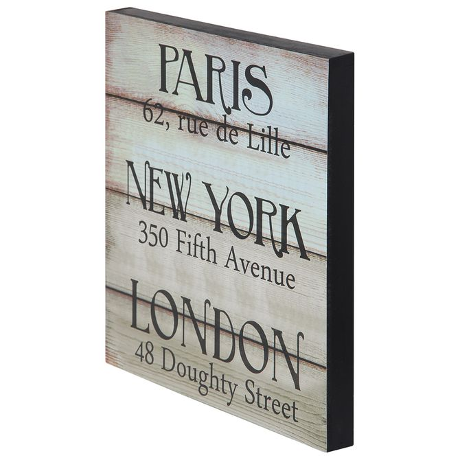 Placa-Decor-30-X-30-Branco-Lavado-preto-Paris-Ny---London