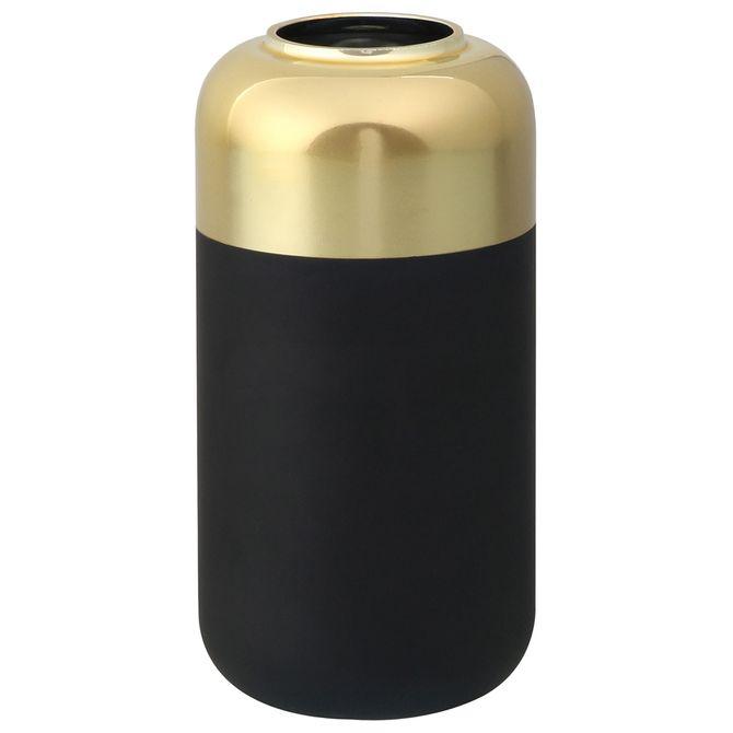 Vaso-14cm-Preto-ouro-Pump-King