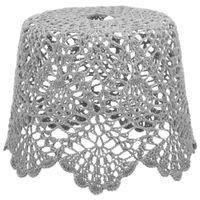 Cupula-Teto-Croche-F-20-Cm-26-Cm-X-26-Cm-Cinza-Provence-Croche-Floral