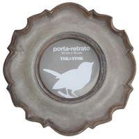 Porta-retrato-10-Cm-X-10-Cm-Cinza-Provence-Entaille