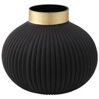 Vaso-Bojudo-14cm-Preto-ouro-Pump-King