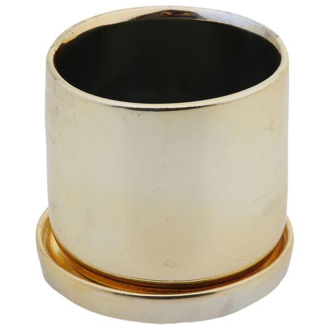 Cachepo-Redondo-8-Cm-Dourado-Treasure