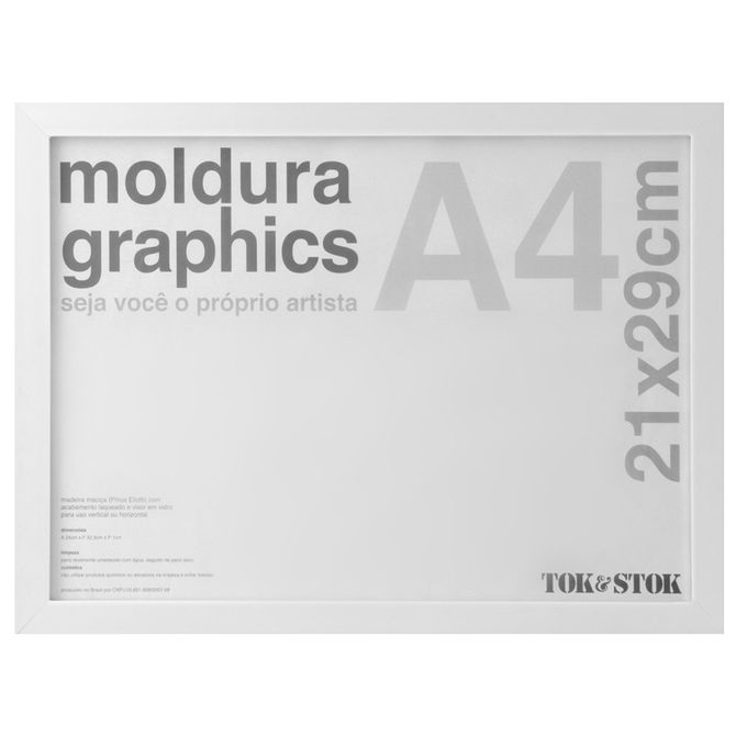 Kit-Moldura-A4-21-Cm-X-29-Cm-Branco-Graphics