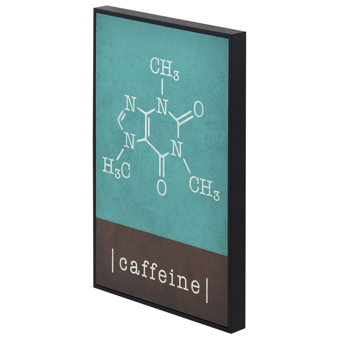 Caffeine-Quadro-20-Cm-X-30-Cm-Preto-multicor-Moleculas