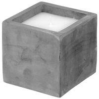Vela-Pote-9-Cm-X-9-Cm-Konkret-branco-Beton