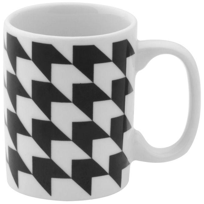 Fleche-Caneca-130-Ml-Branco-preto-Geometrique