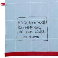 Ida---Vai-Ter-Louca-Pano-De-Prato-Azul-Claro-vermelho-Reflexoes-Da-Ida-Feldman