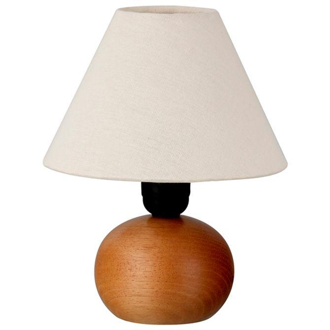 Pote-Luminaria-Mesa-Tipo-Mogno-natural-Mini-Luce