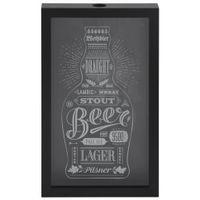 Quadro-porta-tampas-27-Cm-X-44-Cm-Preto-branco-Beer-Caps