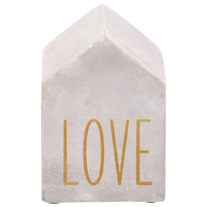 Casita-Love-Adorno-9-Cm-Konkret-ouro-Beton