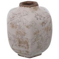 Vaso-Decorativo-17-Cm-Branco-Provence-cinza-Provence-Bien-Orne