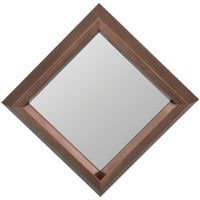 Espelho-Decorativo-21-Cm-X-21-Cm-Ouro-Sepia-Lozenge