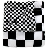 Edredom-Casal-queen-240x250-Branco-preto-Lucky