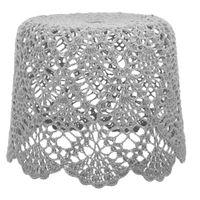 Cupula-Teto-Croche-F-25-Cm-34-Cm-X-34-Cm-Cinza-Provence-Croche-Floral