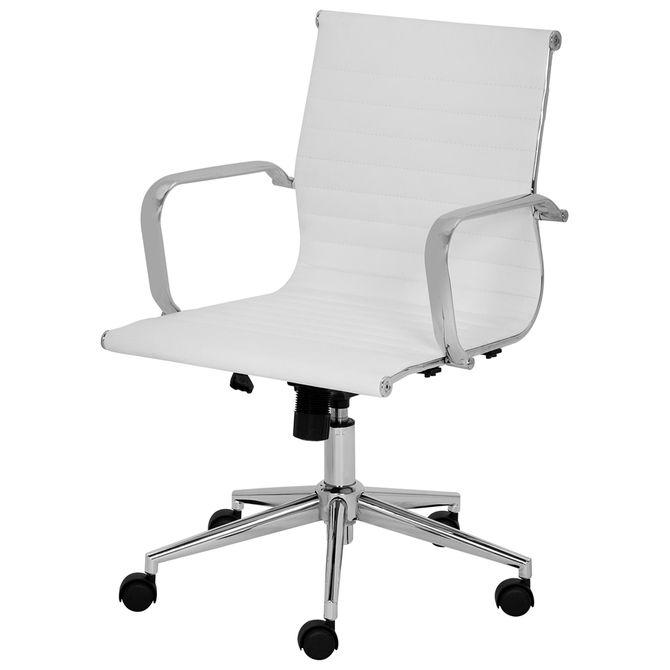 Cadeira-Executiva-Cromado-branco-Nordi
