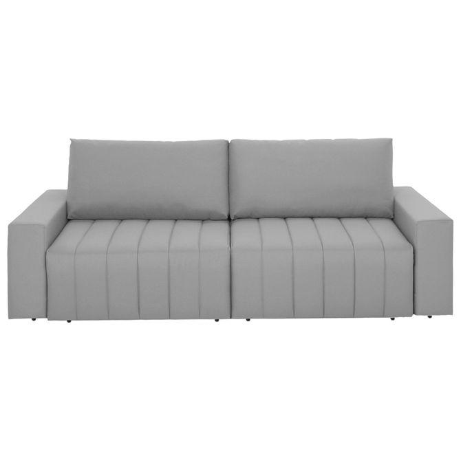 Sofa-cama-Retratil-3-Lugares-Cinza-Snooze