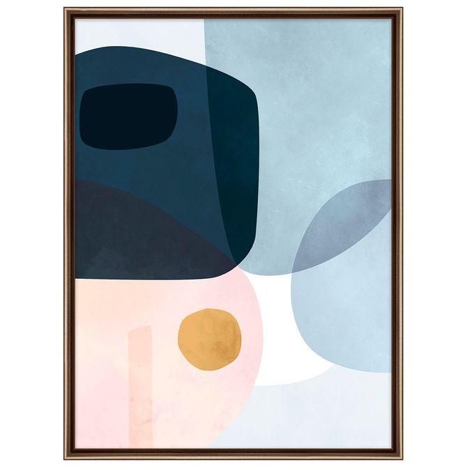 Pastel-Organic-I-Quadro-45-Cm-X-60-Cm-Cobre-multicor-Galeria-Site