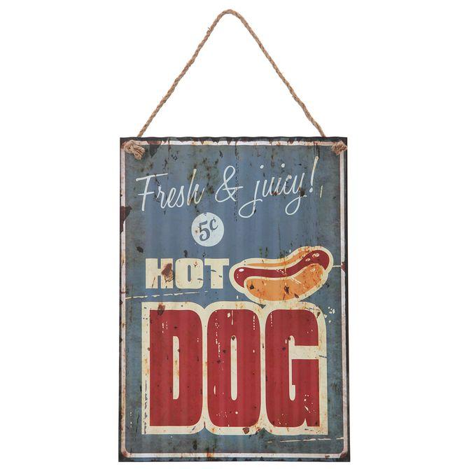 Placa-Decor-40x28-2vrd-Multicor-Bbq---Hot-Dog