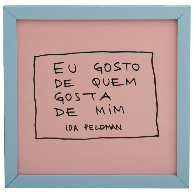 Ida---Quem-Gosta-Quadro-22-Cm-X-22-Cm-Azul-Claro-rosa-Claro-Reflexoes-Da-Ida-Feldman