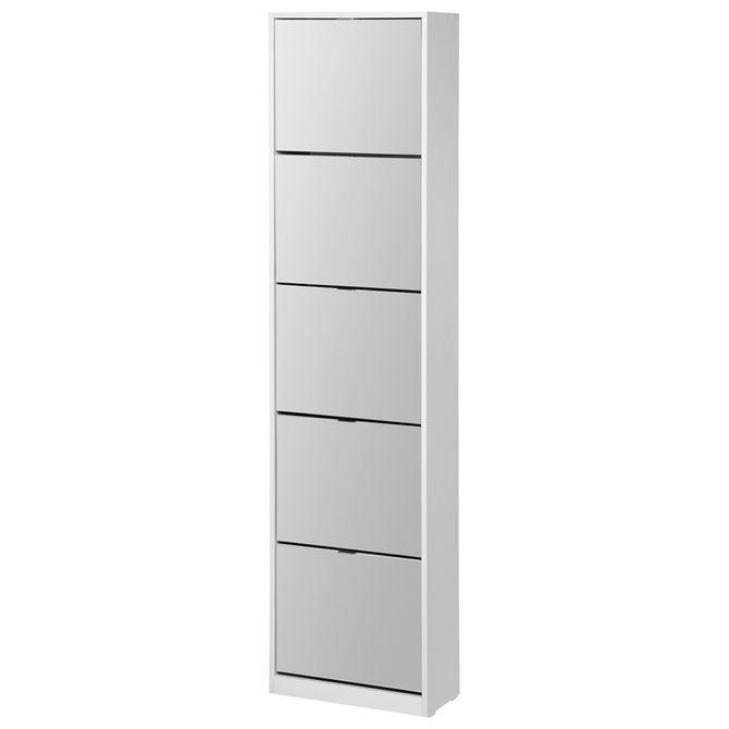 Thin-Mirror-Sapateira-Parede-5p-Branco-prata-Family