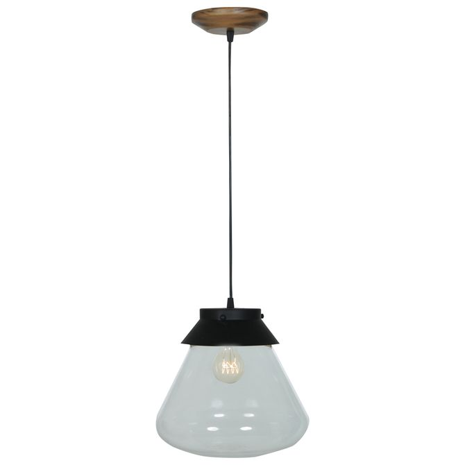 Luminaria-Teto-Preto-incolor-Bowler