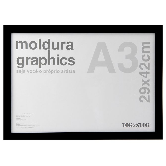 Kit-Moldura-A3-29-Cm-X-42-Cm-Preto-Graphics