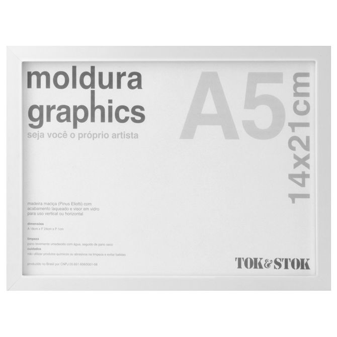Kit-Moldura-A5-14-Cm-X-21-Cm-Branco-Graphics