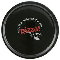 Prato-Para-Servir-40-Cm-Preto-vermelho-Pizza