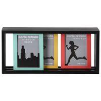 Porta-retrato-Triplo-Preto-cores-Caleidocolor-Slide-mix