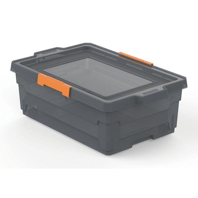 Caixa-Organizadora-Tramontina--Com-Tampa-Em-Plastico-Fume-40-L-Konkret-Basic