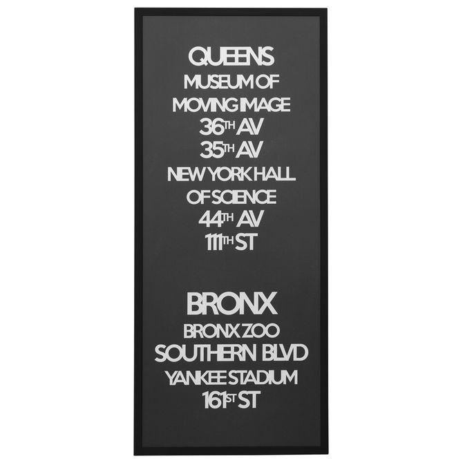 Queens-Quadro-53-Cm-X-123-M-Preto-branco-Ny-Signs