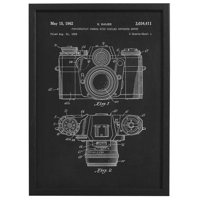 Camera-Quadro-30-Cm-X-42-Cm-Preto-branco-Behind