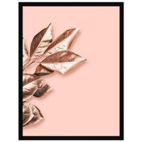 Rose-Leaves-Ii-Quadro-32-Cm-X-42-Cm-Quartzo-Rosa-cobre-Galeria-Site