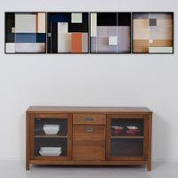 Mondrian-Iii-Quadro-61-Cm-X-61-Cm-Multicor-preto-Galeria-Site