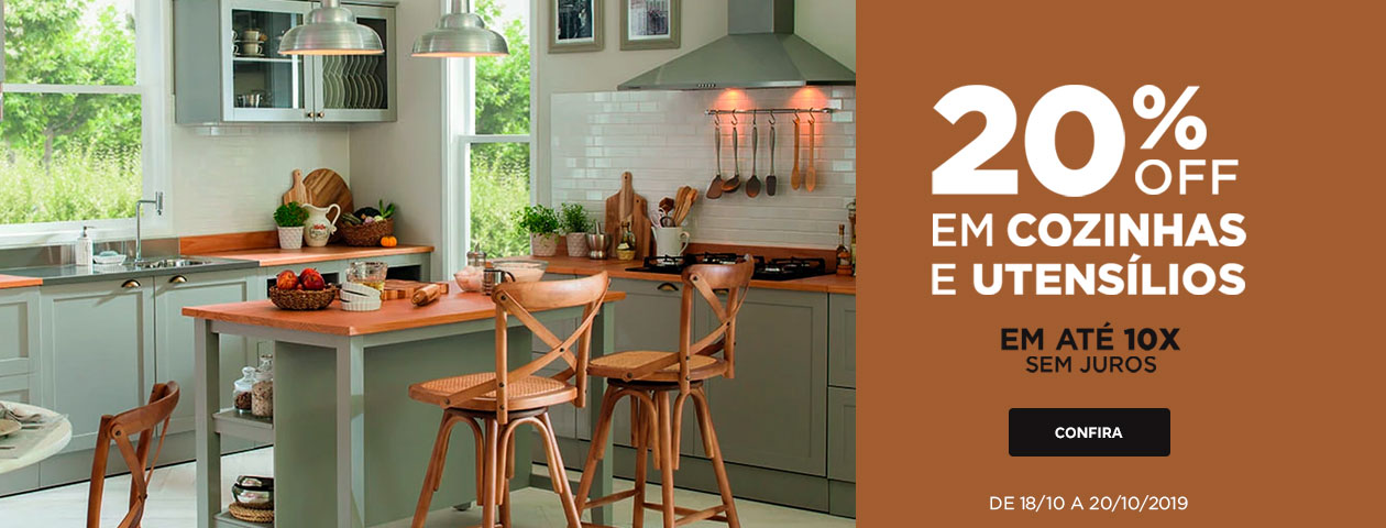 20% OFF em Cozinha e Utensílios | Tok&Stok