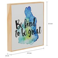 Good vibes be kind quadro 21 cm x 21 cm
