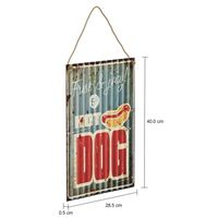 Hot dog placa decorativa 40 cm x 28 cm