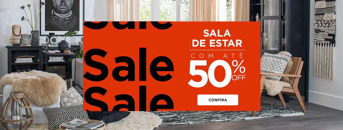 Sala de Estar com 50% OFF - Sale | Tok&Stok