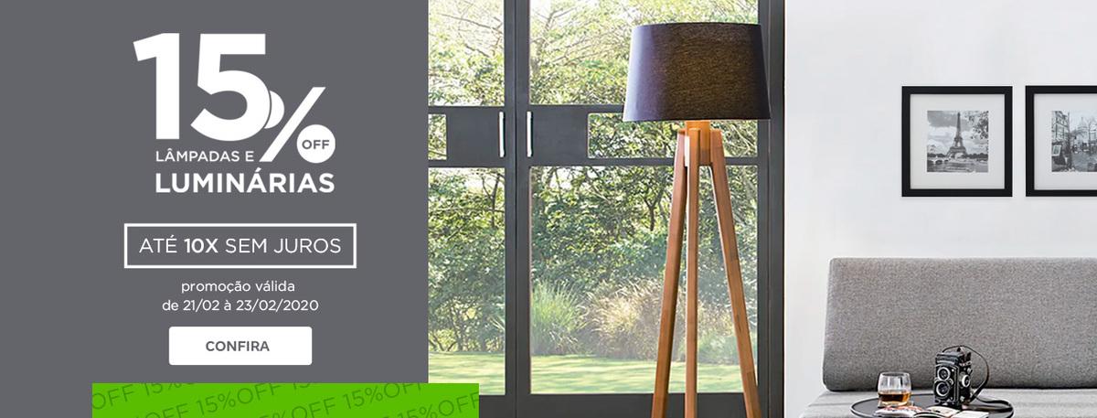 15% OFF em Iluminação | Tok&Stok